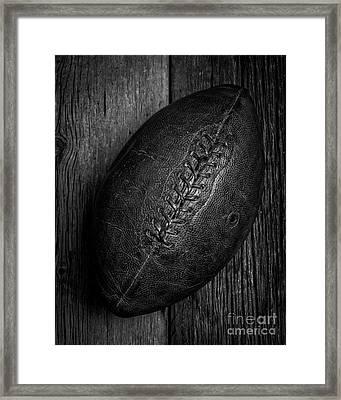 Leather Pigskin Football Framed Print