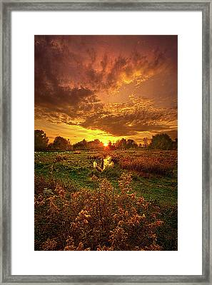 Leave A Light On Framed Print