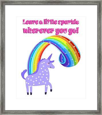 Leave A Little Sparkle Wherever You Go Framed Print