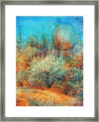 Leave It To The Trees To Dance In The Cold Framed Print by Tara Turner