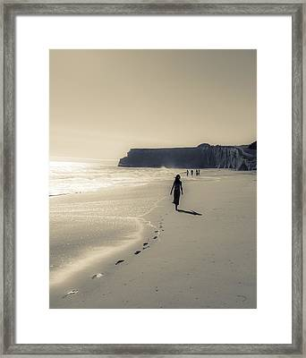 Leave Nothing But Footprints Framed Print