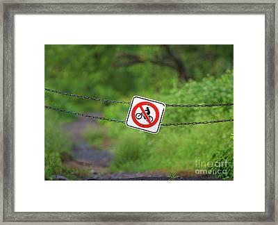 Leave Only Footprints... Framed Print by Nina Stavlund