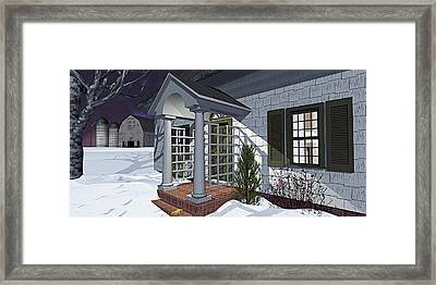 Framed Print featuring the photograph Leave The Porch Light On by Peter J Sucy