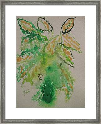 Framed Print featuring the drawing Leaves by AJ Brown