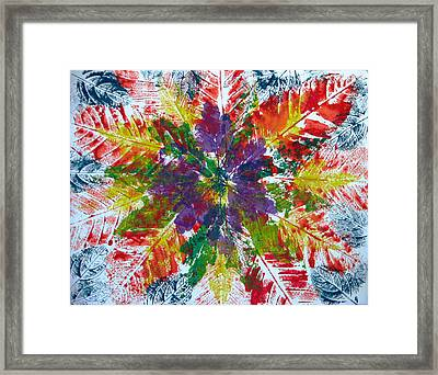 Leaves Alone Framed Print by Libby  Cagle