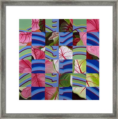 Leaves And Bones Framed Print by Sunhee Kim Jung