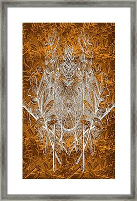 Leaves And Twine Framed Print by Evelyn Patrick