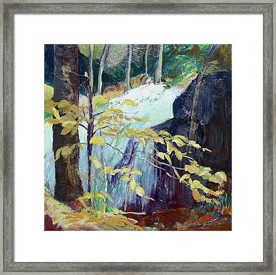 Leaves And Water Framed Print