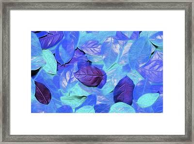 Leaves By Nicholas Nixo Efthimiou Framed Print
