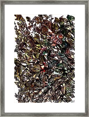 Leaves Hidden Everywhere Framed Print by Garima Srivastava
