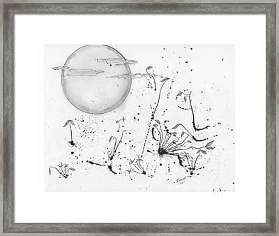 Leaves In Blown Ink Framed Print by Dan Twyman
