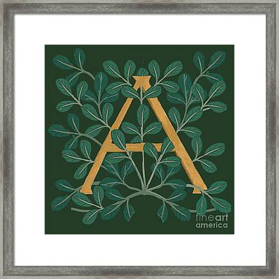 Leaves Letter A Framed Print