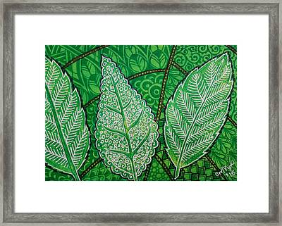 Leaves Of Spring Framed Print by Michelle Vyn