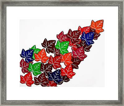 Leaves Framed Print by Oliver Johnston