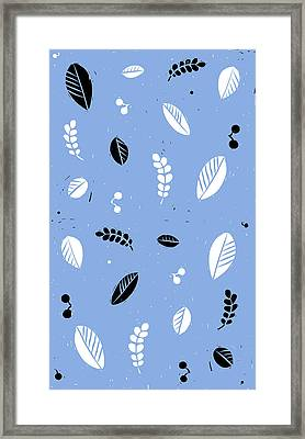Leaves - Peri B/w Framed Print