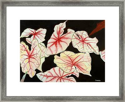 Leaves Framed Print by Sunhee Kim Jung
