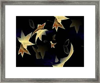 Leaves Framed Print by Tim Allen