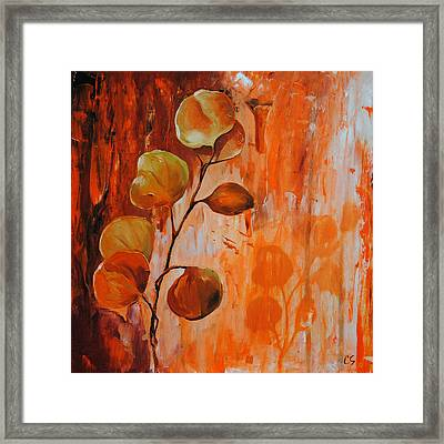 Leaves1 Framed Print by Chris Steinken