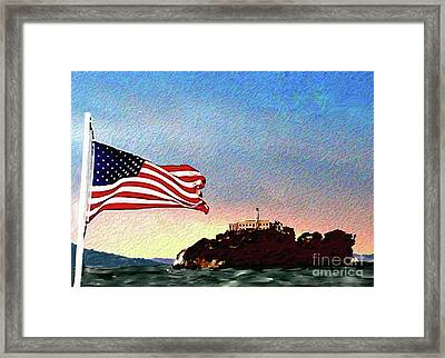 Leaving Alcatraz Framed Print by Methune Hively