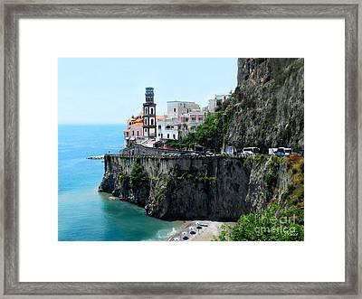 Leaving Atrani  Italy Framed Print