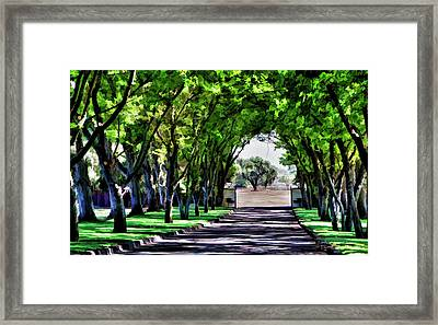 Leaving Bridlewood Framed Print