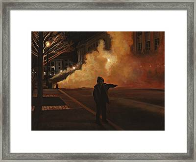 Leaving Chinatown Framed Print