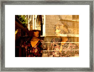 Leaving Church Framed Print by Jez C Self