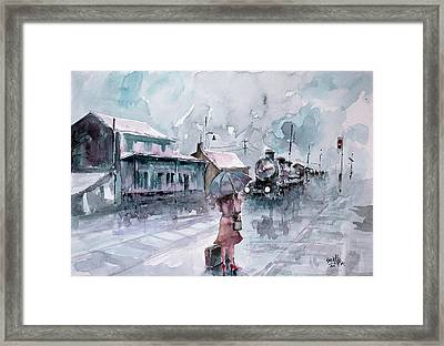Framed Print featuring the painting Leaving... by Faruk Koksal