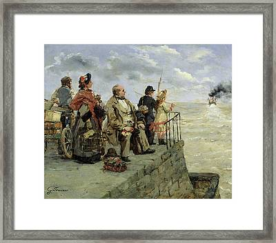 Leaving For Jersey  Framed Print by Guillaume Romain Fouace