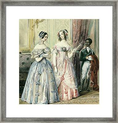 Leaving For The Ball Framed Print by Alexandre-Marie Colin