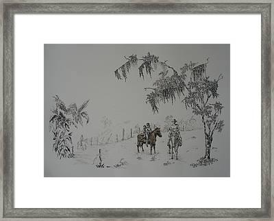 Leaving Home Framed Print by Gloria Reyes Diaz
