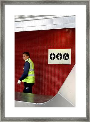 Leaving Framed Print by Jez C Self