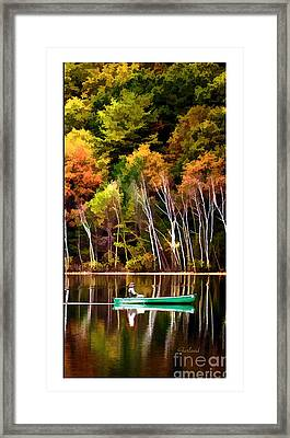 Leaving Lake Transition One Third Framed Print by Garland Johnson