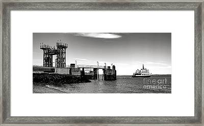Leaving Lincolnville Framed Print by Olivier Le Queinec