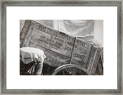 Leaving Lonesome Dove Framed Print by Donna Kennedy