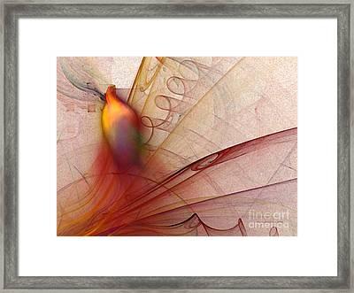Leaving Marks Abstract Art Framed Print