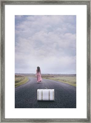 Leaving My Baggage Behind Me Framed Print by Joana Kruse