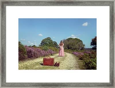 Leaving My Luggage Behind Framed Print