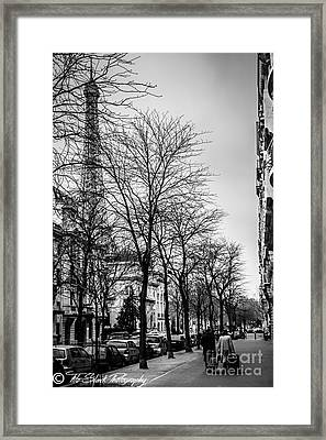 Leaving Paris Framed Print by Tito Slack