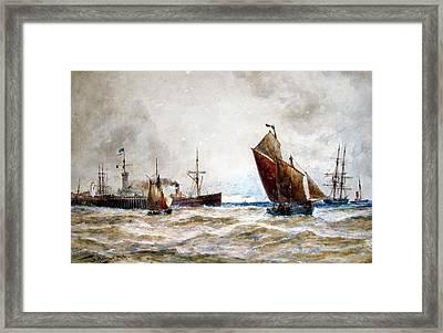 Leaving Port Calais Framed Print by MotionAge Designs