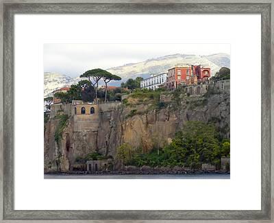Leaving Positano Framed Print by Janet Fikar