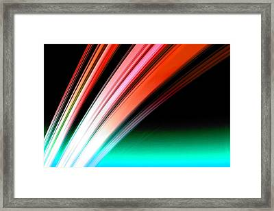 Leaving Saturn In Fire Opal Framed Print