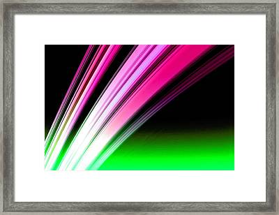 Leaving Saturn In Hot Pink And Green Framed Print