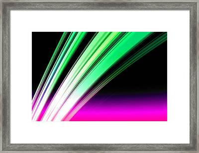 Leaving Saturn In Pink And Mint Framed Print by Pet Serrano