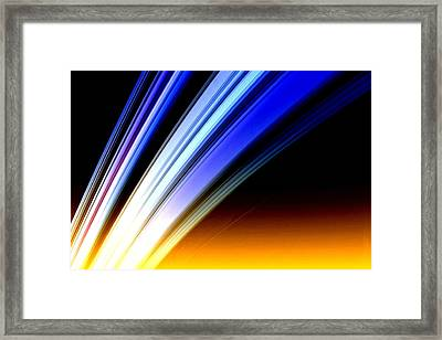 Leaving Saturn Framed Print