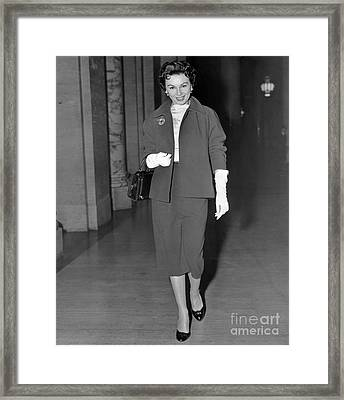 Leaving Supreme Court, Lisa Ferraday. Framed Print by Anthony Calvacca