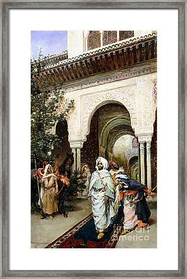 Leaving The Alhambra Framed Print