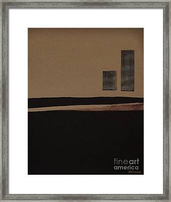 Leaving The City Framed Print by Marsha Heiken