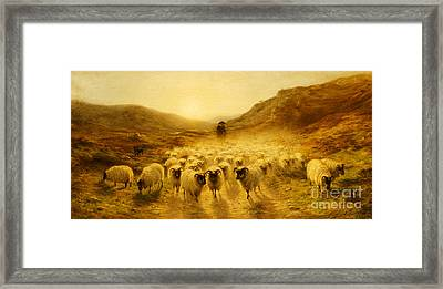 Leaving The Hills, 1874 Framed Print