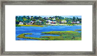 Leaving The Island Framed Print